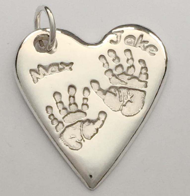 Silver Keepsake Heart Pendant